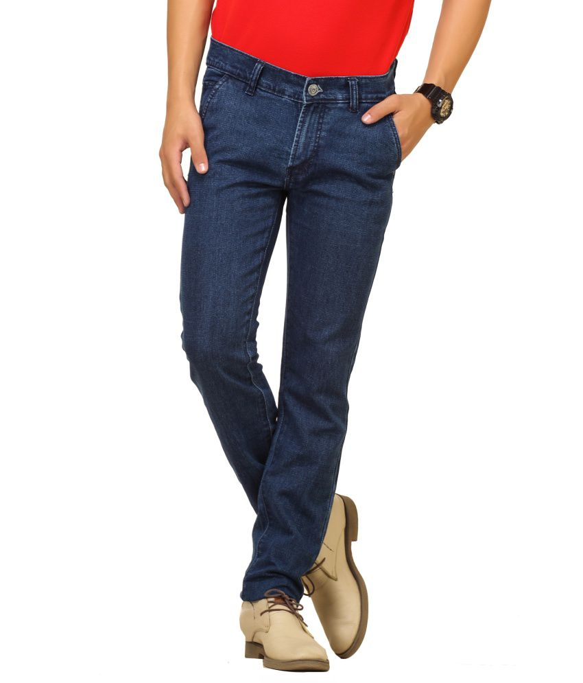 Cottinfab Navy Cotton Jeans