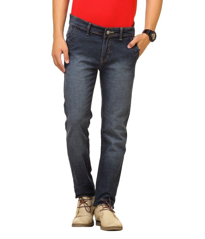 Cottinfab Navy Cotton Jeans
