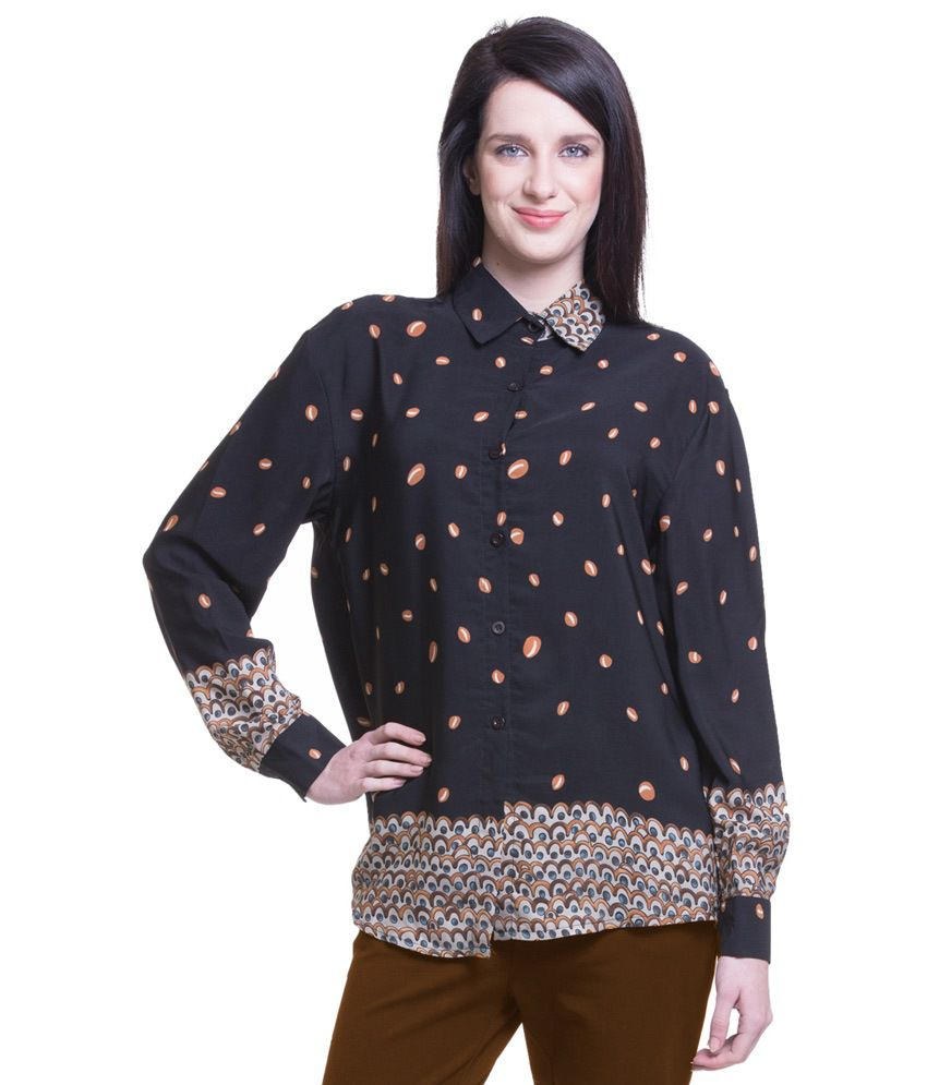 Ncr Black Poly Georgette Shirts