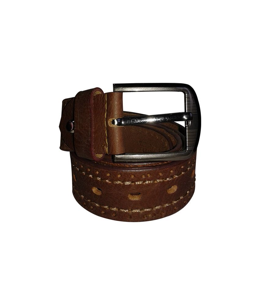 Nikhil Leather 38mm Brown Leather Casual Belt