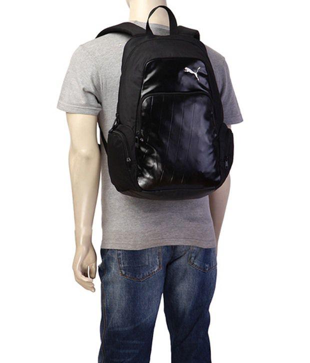 Puma Black Elite Backpack - Buy Puma Black Elite Backpack Online at ... 4a1d25cbe3b9d