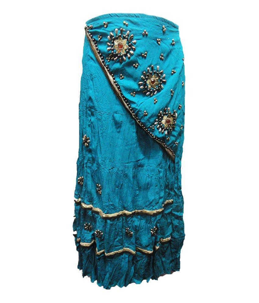 threads blue silk printed skirt buy threads blue silk
