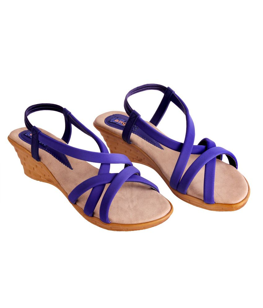 4a9531de884 Angel Blue Medium Heel Ankle Strap Ladies Sandals Price in India ...