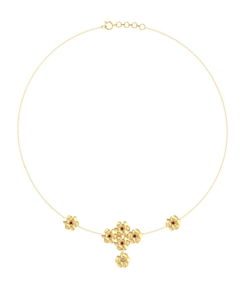 Caratlane Blossom Ruby Design Necklace