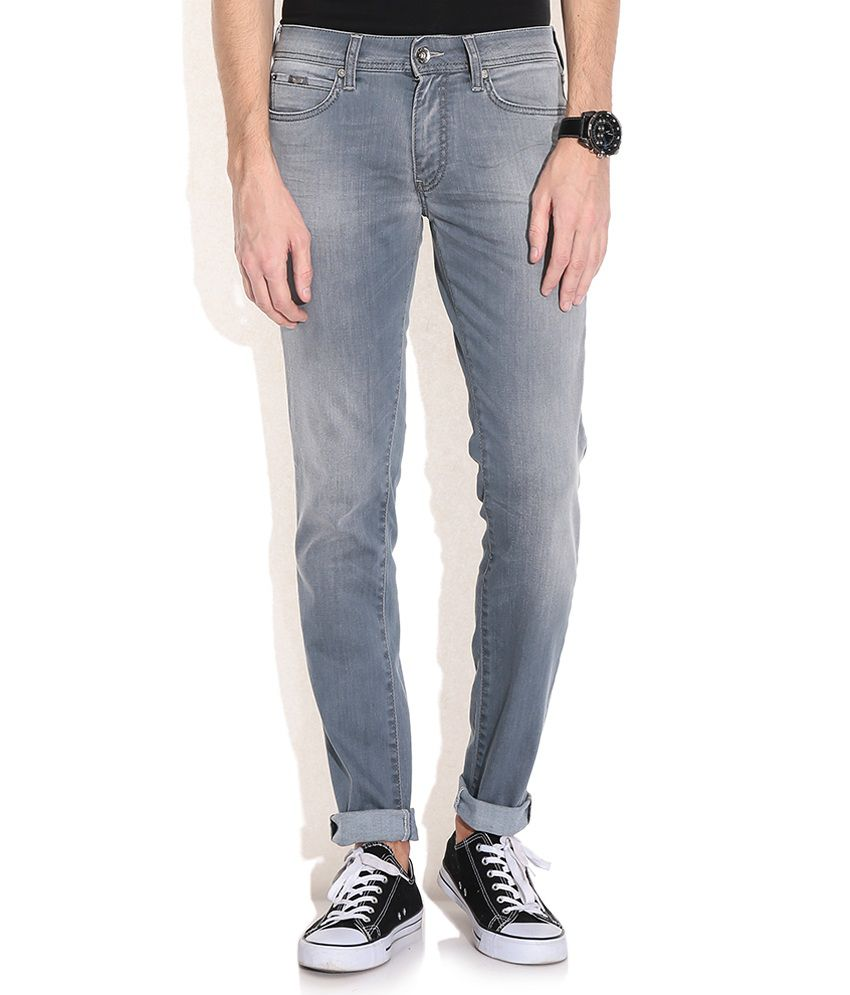 GAS Gray Sax Zip Fit Jeans