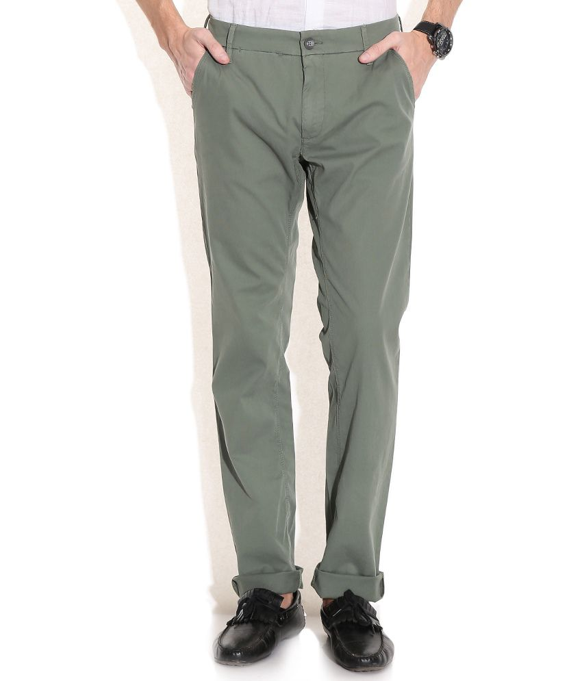 GAS Green Noal F/P Fit Casual Trousers