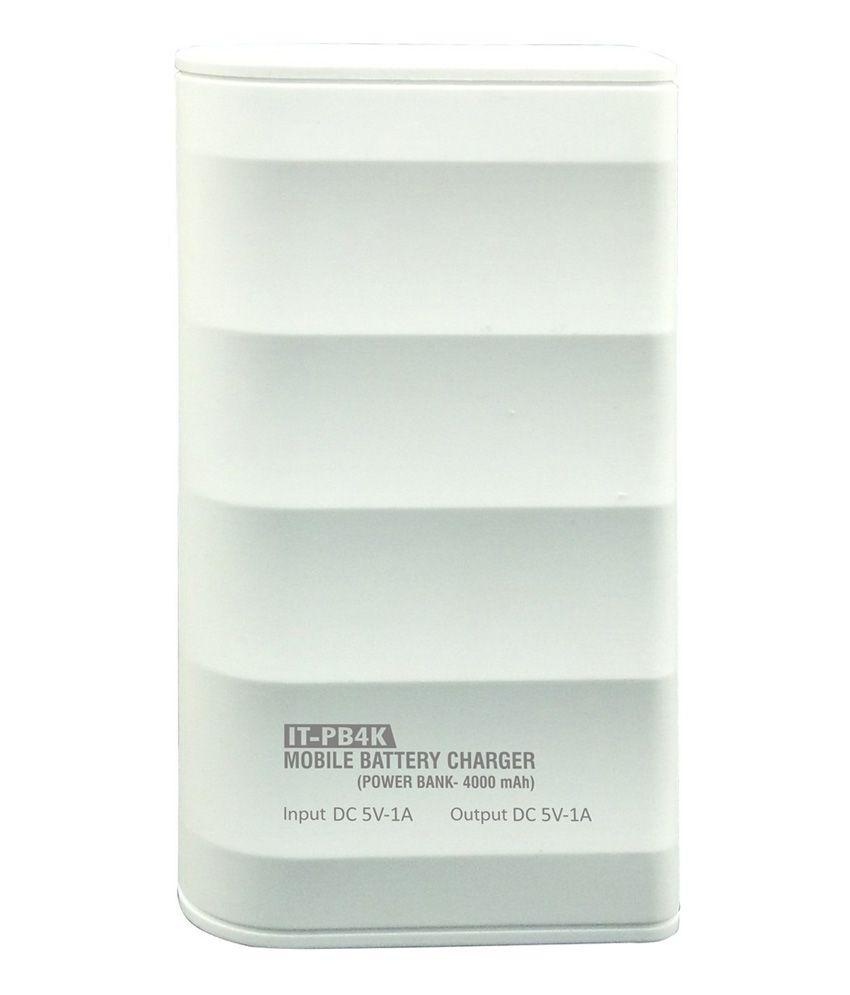 Intex 4000mah It-pb4k Power Bank - White