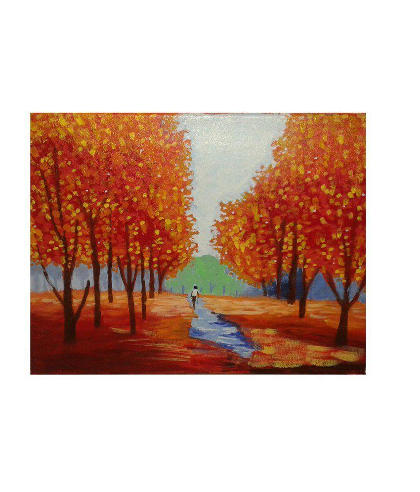 Sunita Art Creation Ganesha Canvas Painting And Nature Board Box Canvas Painting