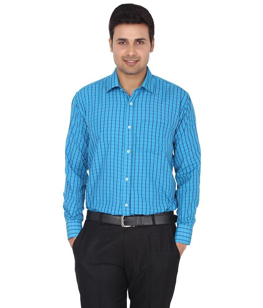 Zuricch blue formal shirt for men buy zuricch blue for Formal shirts for men online