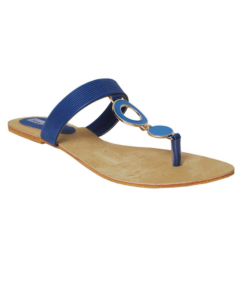 752bf20bb565 Clever Steps Blue Faux Leather Daily Wear Flat Slippers Price in India- Buy  Clever Steps Blue Faux Leather Daily Wear Flat Slippers Online at Snapdeal