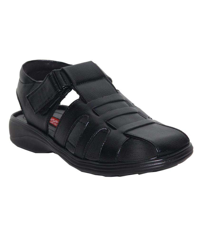 Leeport Stylish Black Sandals