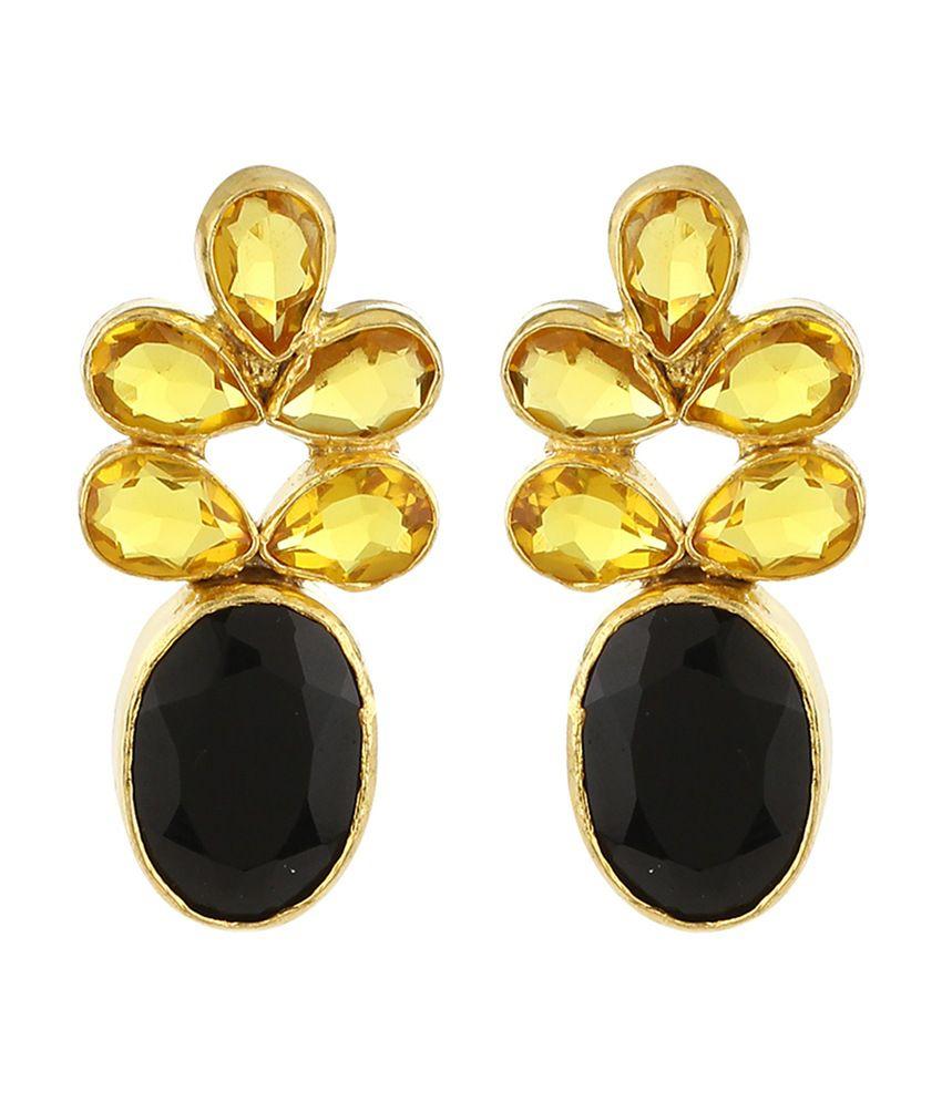 Imli Street Gold Antique Designer Push Back Earings