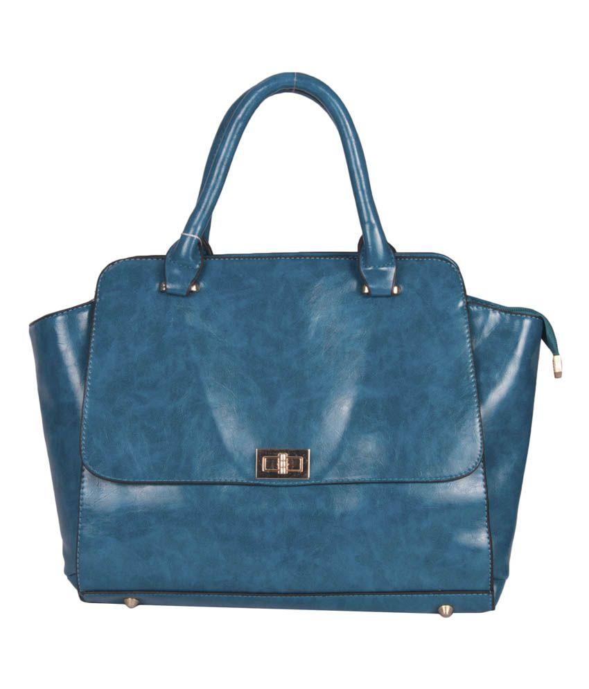 La Passo Turquoise Pu Women Handbag