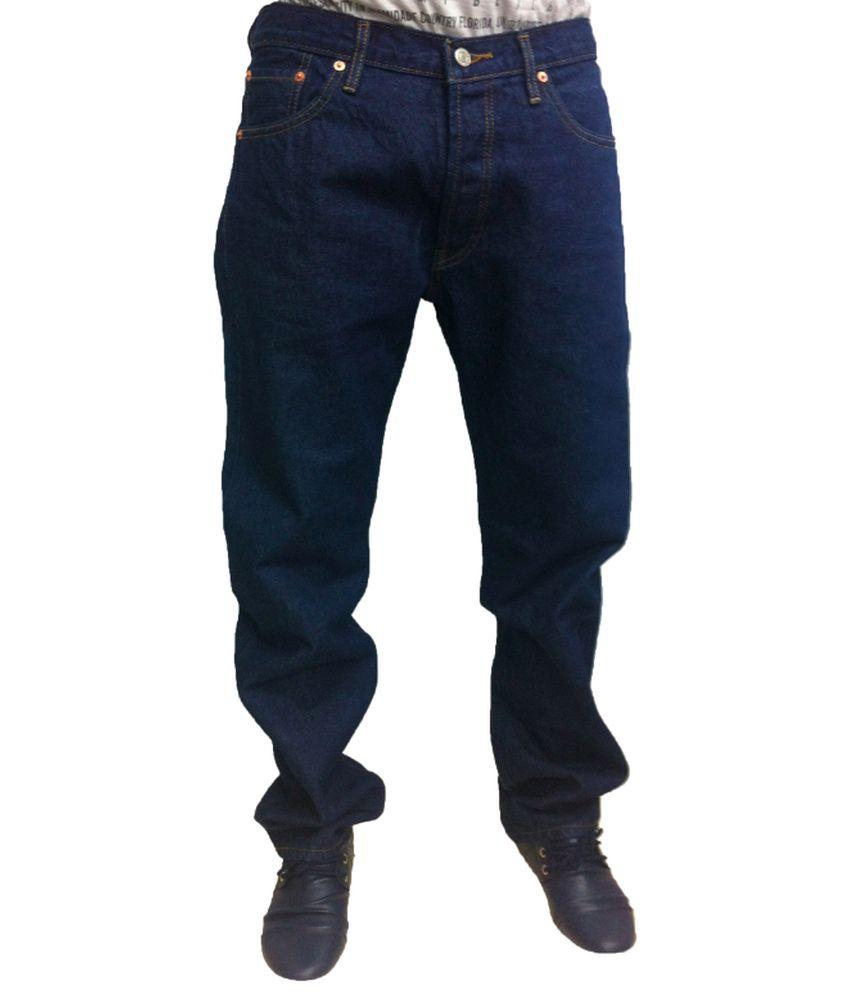 Levi's Blue Cotton Blend Men Jeans