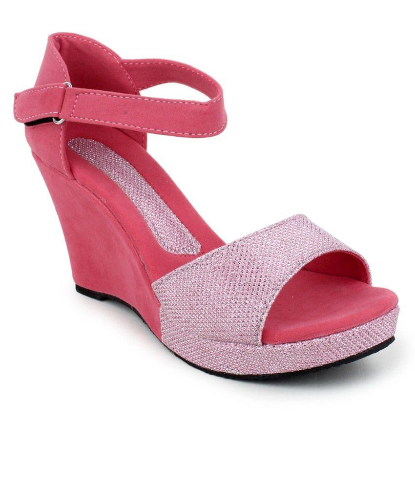 3bd21c99a92 Hansx beige pink wedges heels price in india buy hansx beige pink jpg  850x995 Purple pink