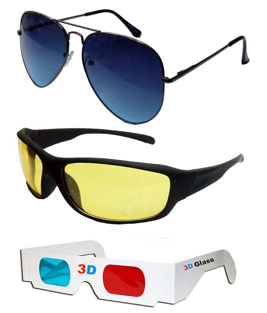 Hrinkar - Black Pilot Sunglasses ( )