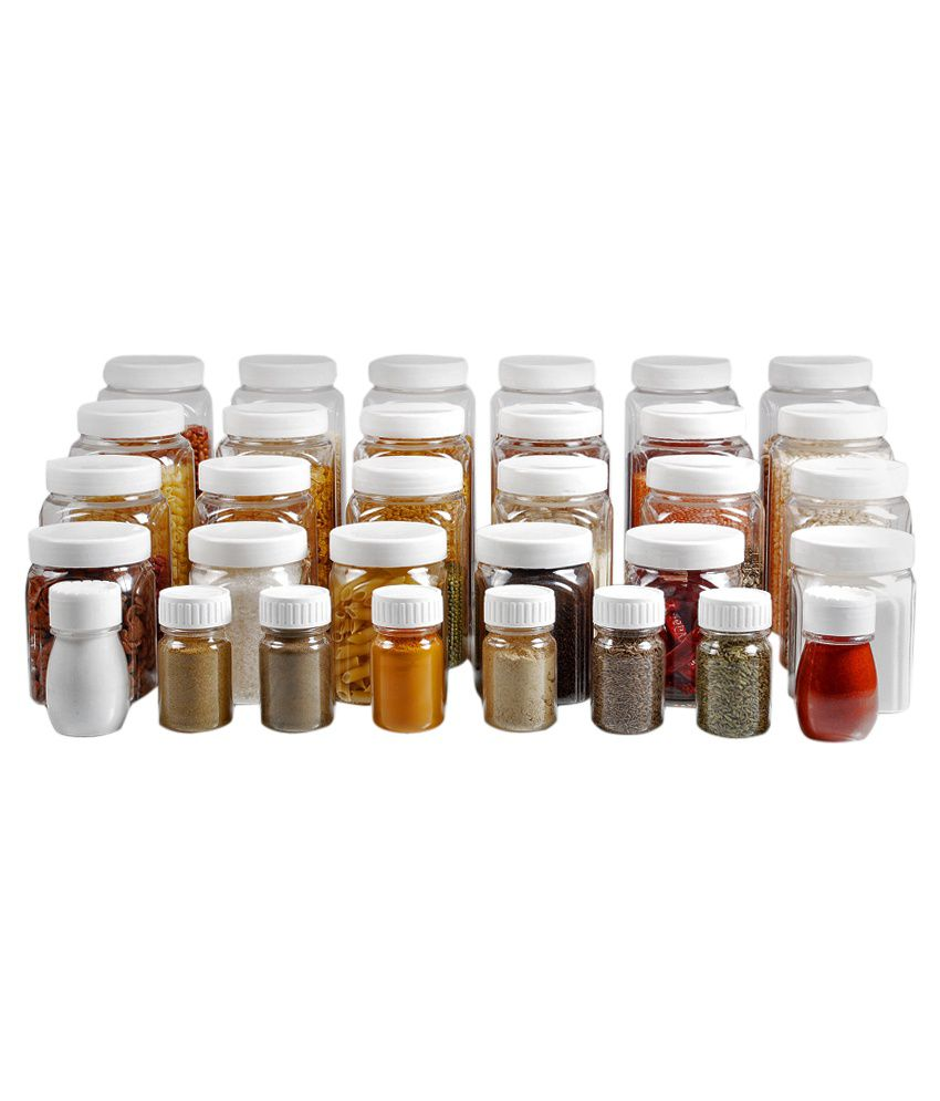 kitchen storage containers buy online pearlpet marigold combo of jars and spice containers 32 8617