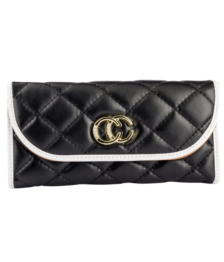 Lalana Black Non Leather Casual Women Regular Wallet