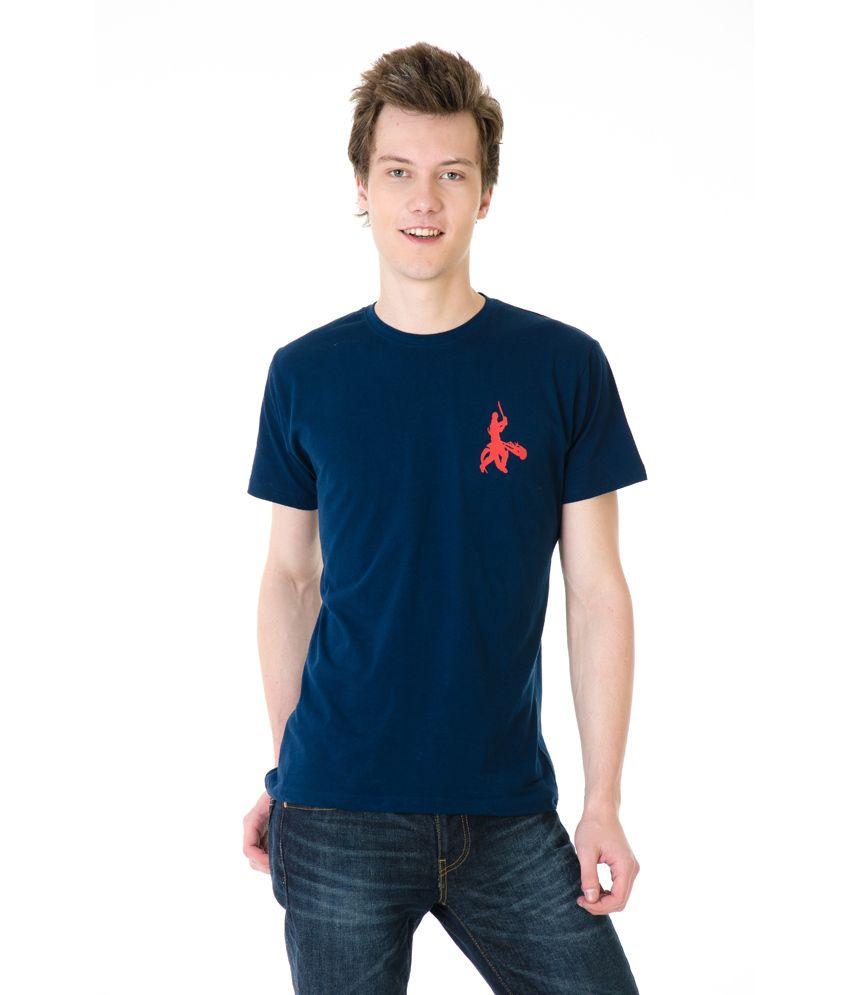 Posh 7 Navy Small Betsmen Cricket T Shirt