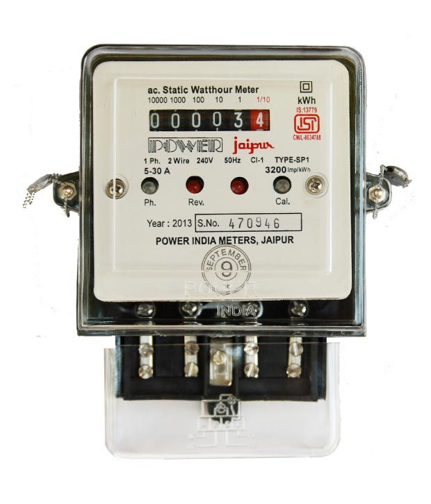 Electric Meter On House : Buy power india meters single phase electronic meter