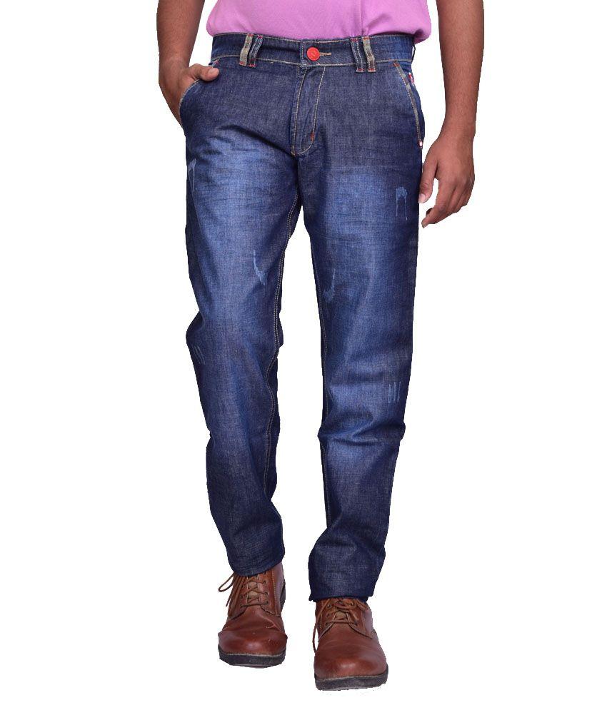 British Terminal Blue Cotton Skinny Jeans for Men
