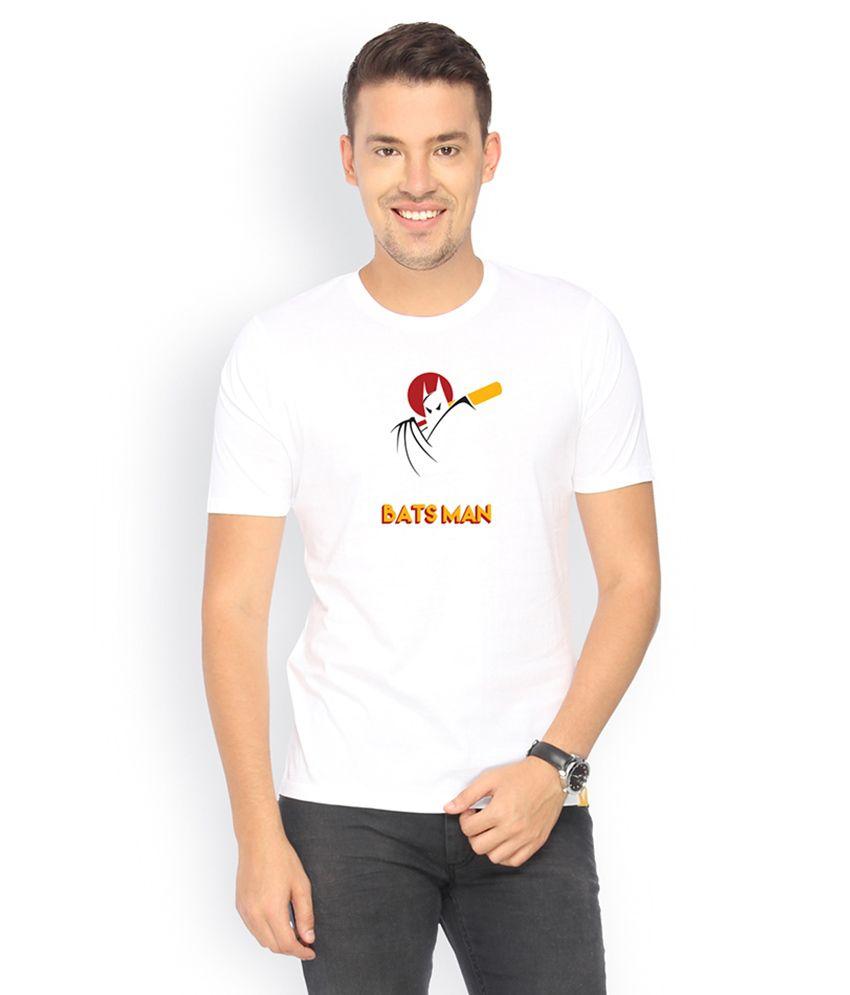 Campus Sutra Red Round Neck Tshirt Batsman