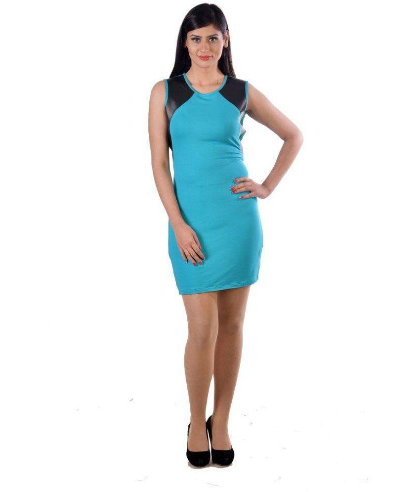 Hugo Chavez Blue Poly Cotton Dresses