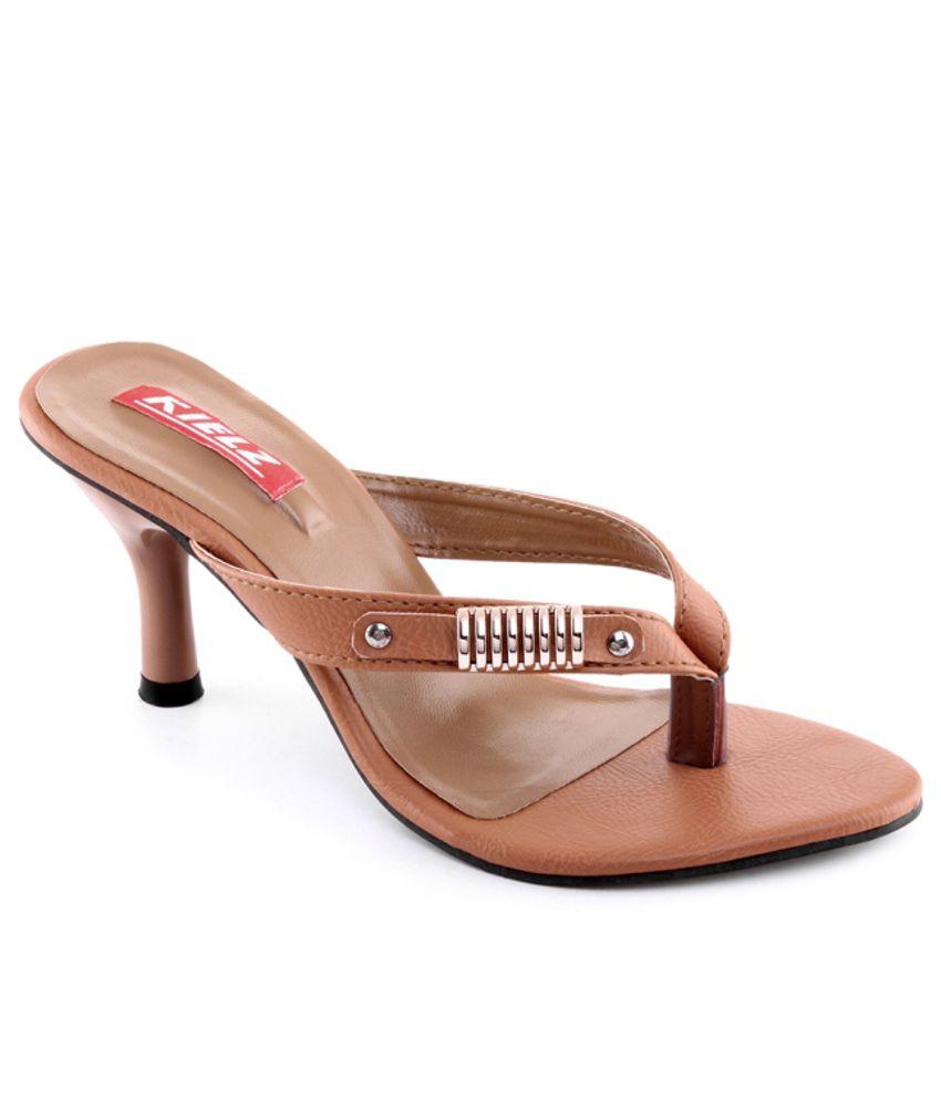 Kielz Stunning Brown Heeled Slip-on