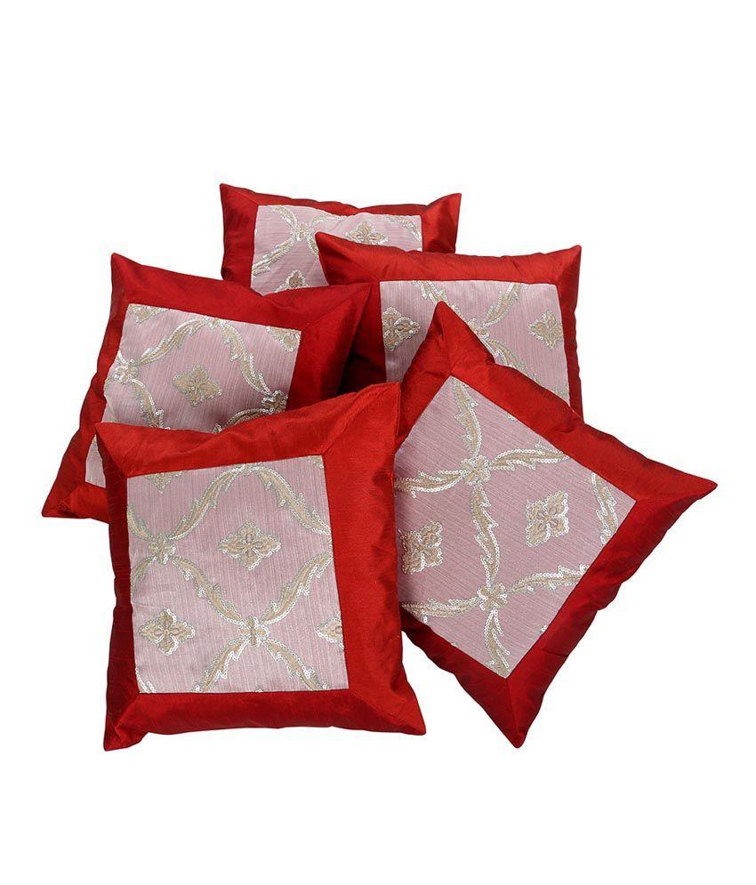 Rajrang  Designer Cushion Covers - (16 X 16 Inches) (Set of 5 Pcs)