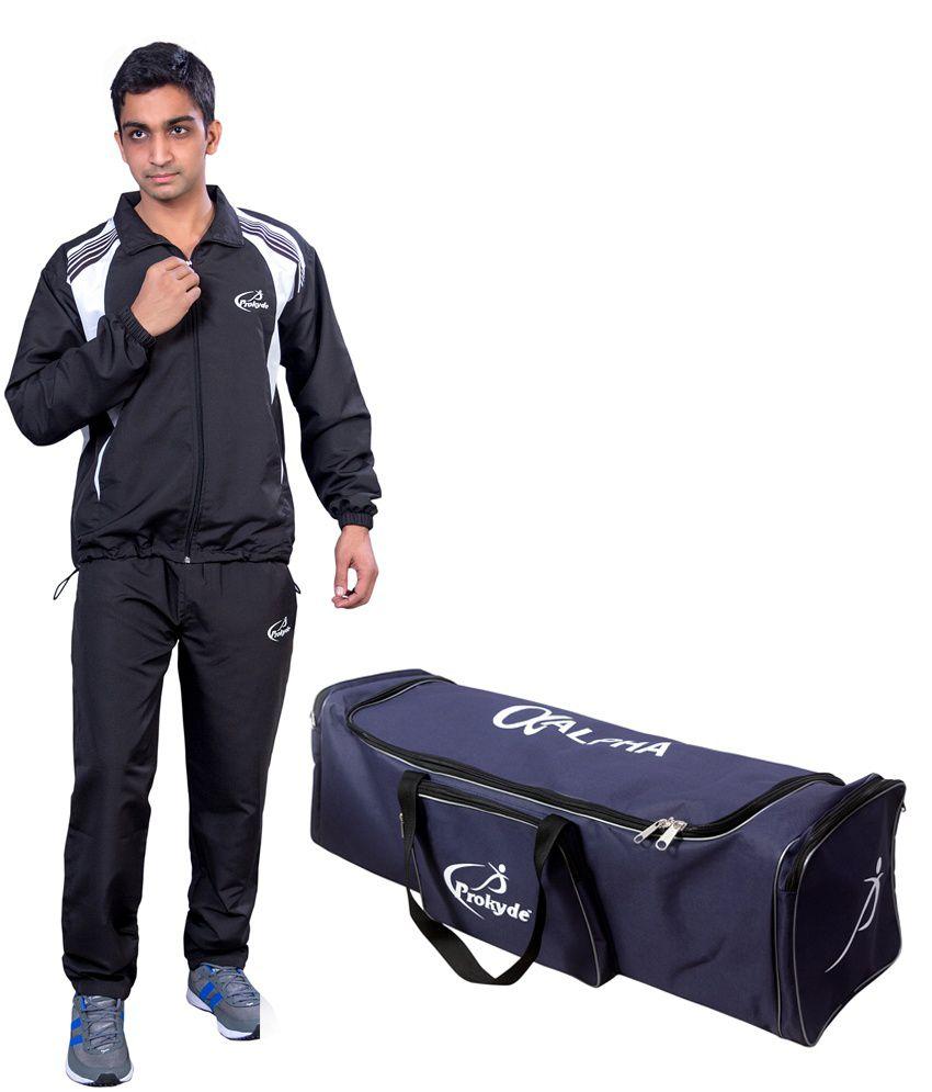 Prokyde Black Tracksuit, Black Cricket Kit Combo 2