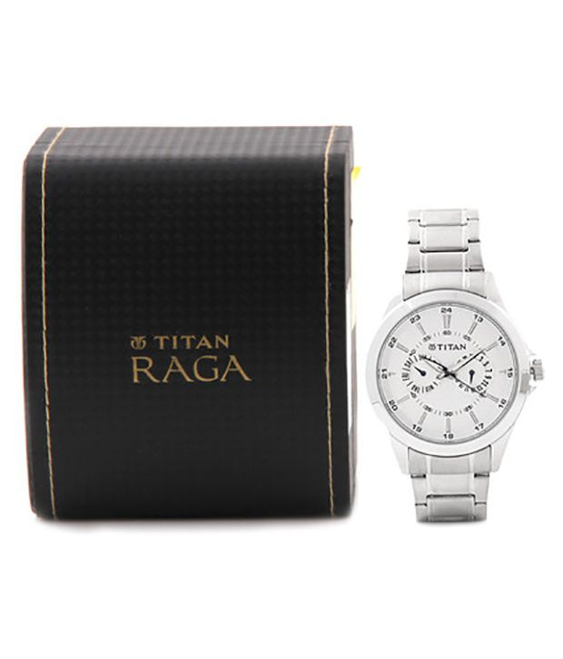 titan silver stainless steel analog watch buy titan silver titan silver stainless steel analog watch