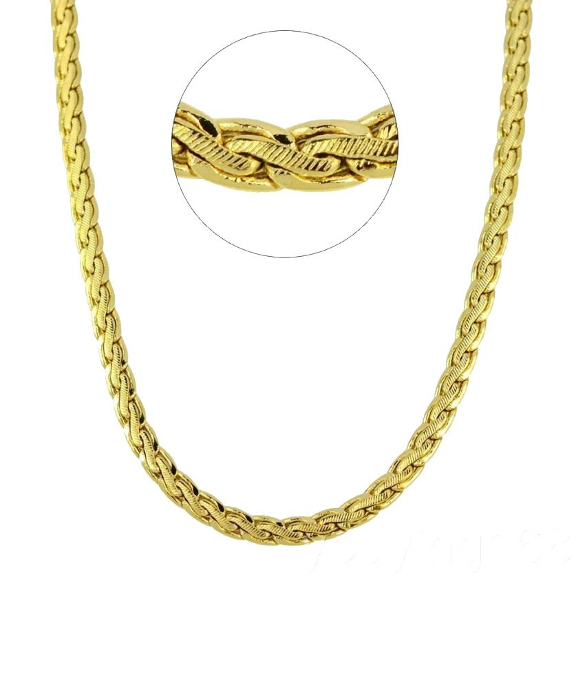 Magic Stones Gold Plated Alloy Chain For Men: Buy Online ...