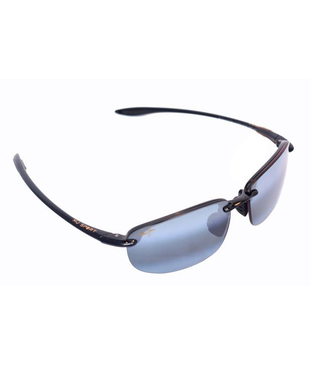 Maui Jim Hookipa 407-02 Gloss Black Neutral Grey Sunglasses - Buy ... 7644815755b6