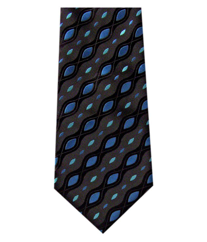 Monte Rosso Abstract Black Necktie