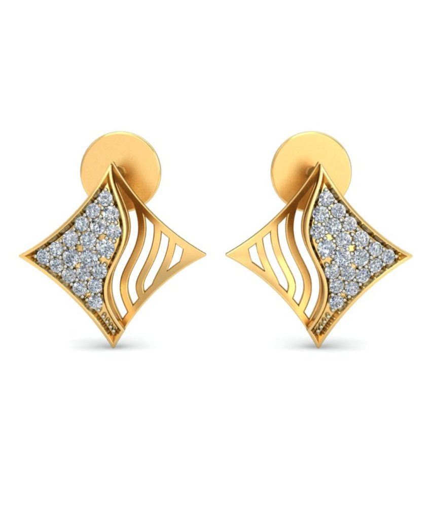 Demira Jewels Kite Style 18kt Gold & Real Diamond Earring 100%Certified