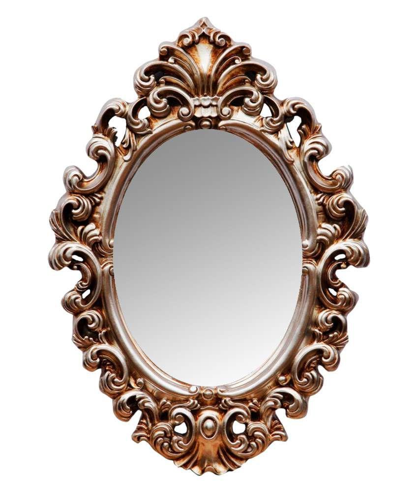 Elegant Arts & Frames Gold Resin Oval Antique Mirror: Buy ...