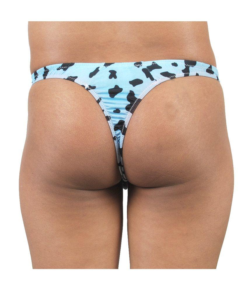 Gwyn Lingerie Blue Print Men Thong Underwear - Buy Gwyn Lingerie ...