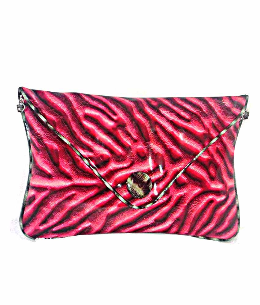 Snoopy Shining Red Sling Bag With Stripes