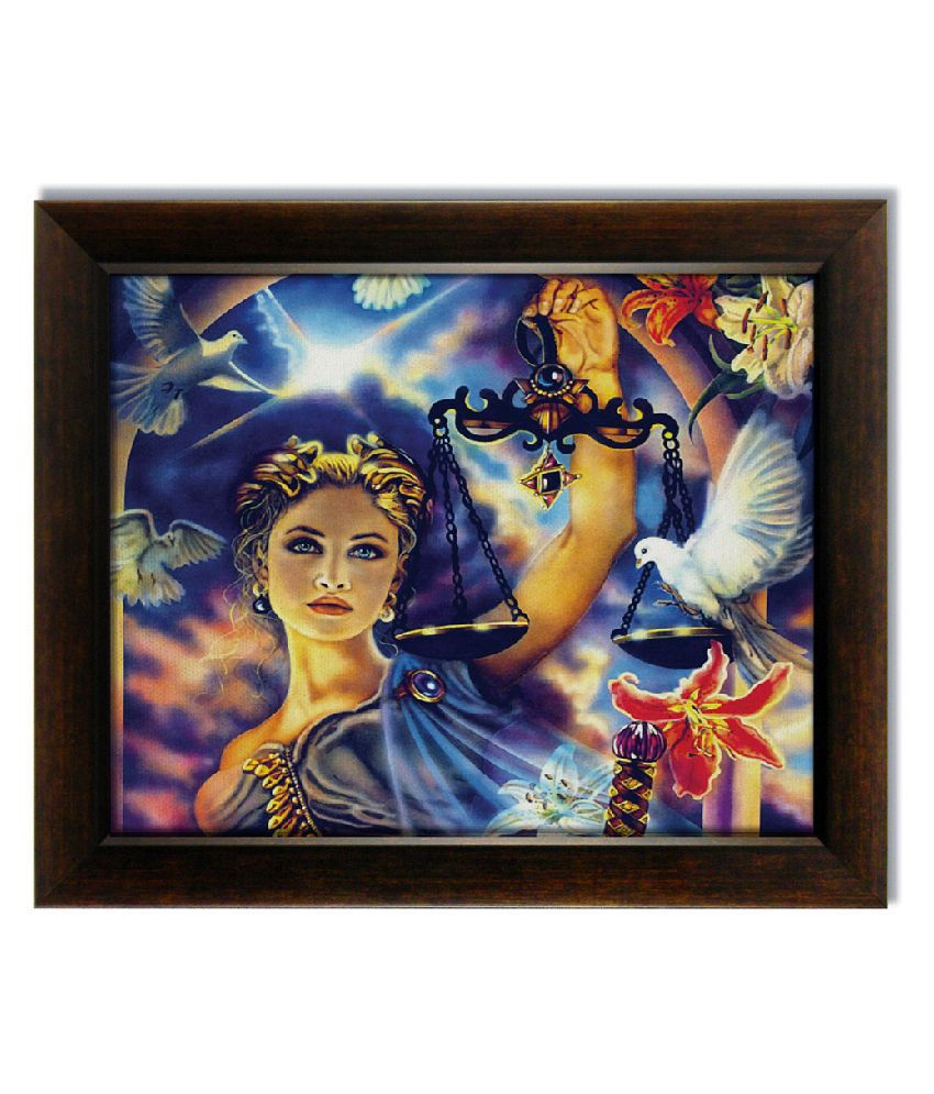 Stybuzz Horoscope Girl Frameless Canvas Painting