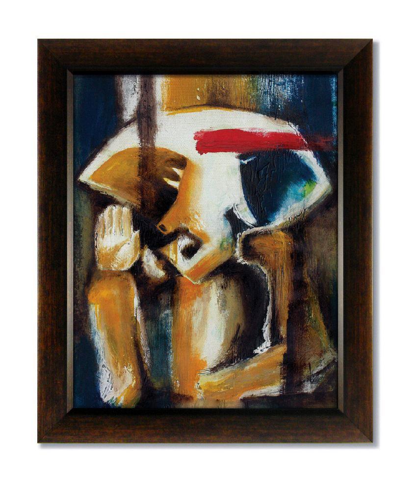 Stybuzz Modern Ganesha Frameless Canvas Painting