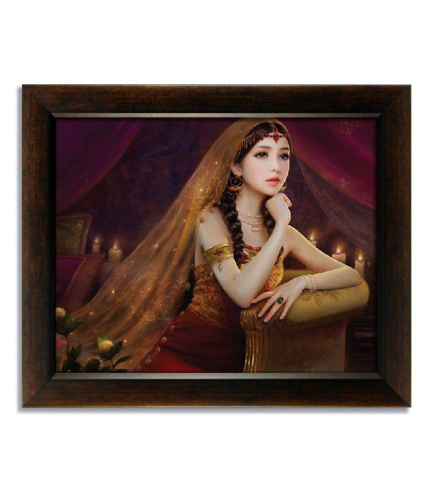 Stybuzz Princess Frameless Canvas Painting