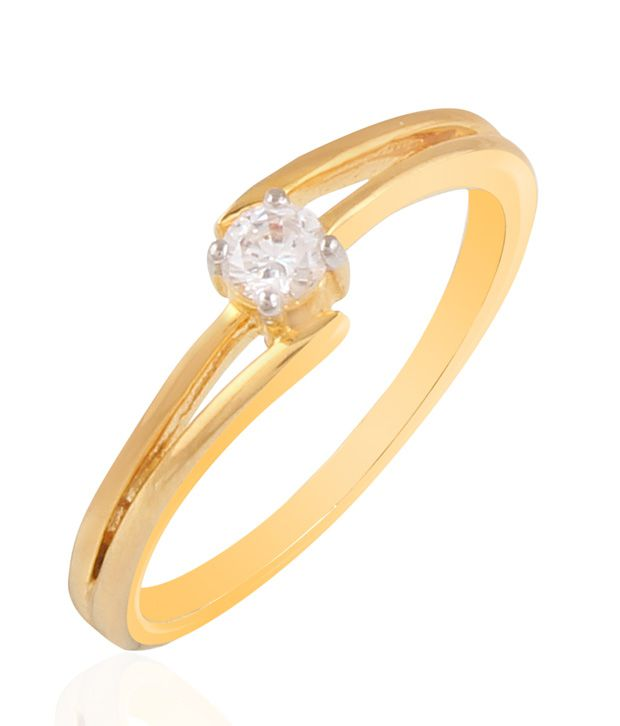 Balaji Jewels Gold Single Diamond Ring-18kt