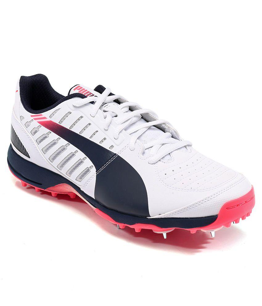 283d8c2b769 Puma Evospeed Cricket Spike 1.3 White Sport Shoes