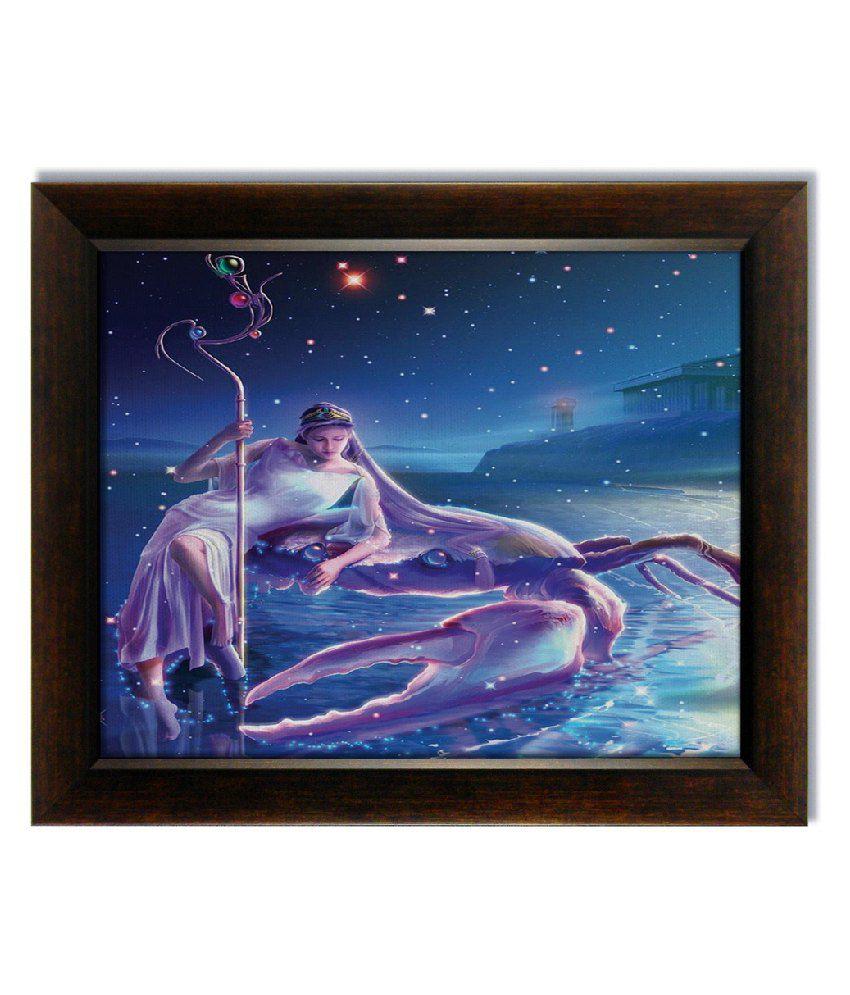 Stybuzz Cancer Horoscope Frameless Canvas Painting