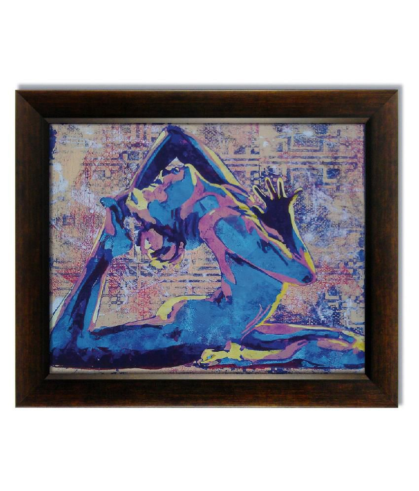 Stybuzz Girl Dancing Frameless Canvas Painting