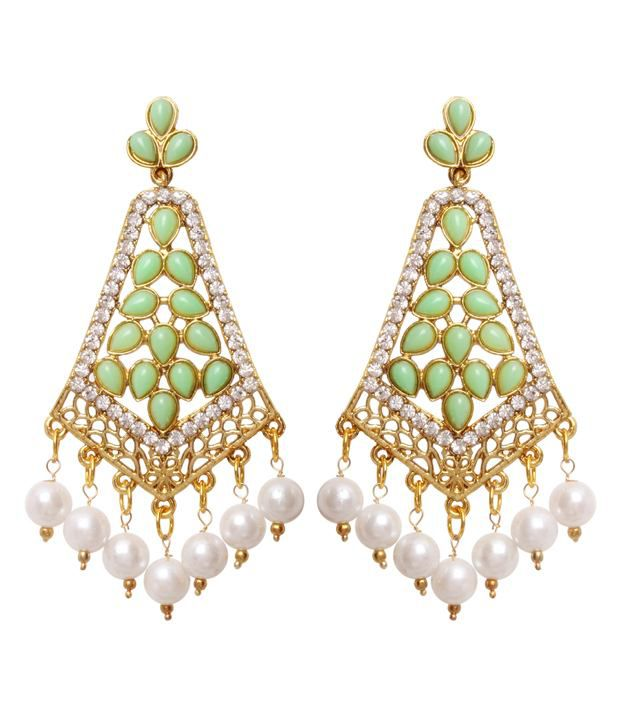 Vendee Fashion Fancy Green Earrings (8194)