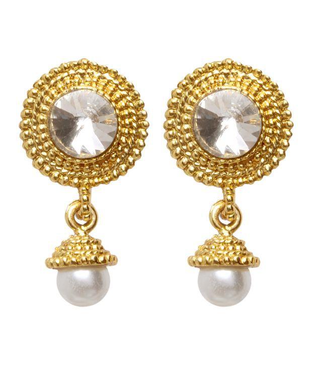 Vendee Fashion Stylish Gold Earrings (8195b)