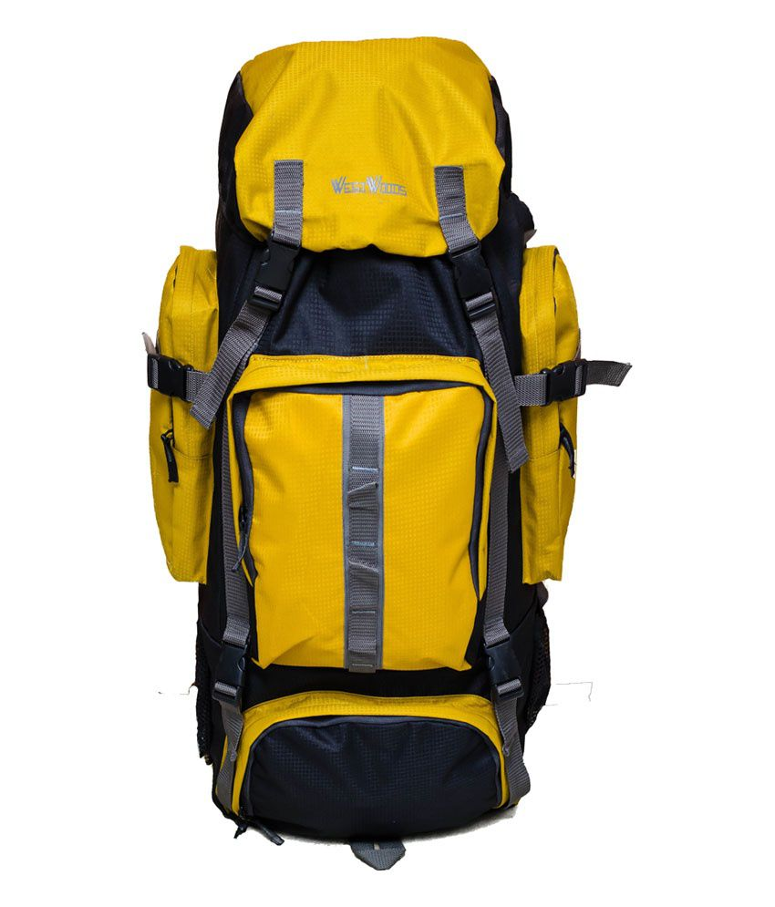 Westwoods Yellow Polyester Hiking Backpack - Buy Westwoods ...