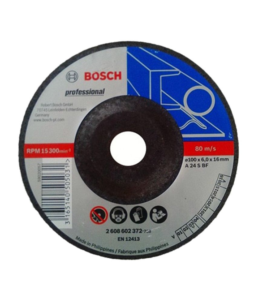 Bosch 4 Inches Dc Grinding Wheel (pack Of 25): Buy Bosch 4 ...