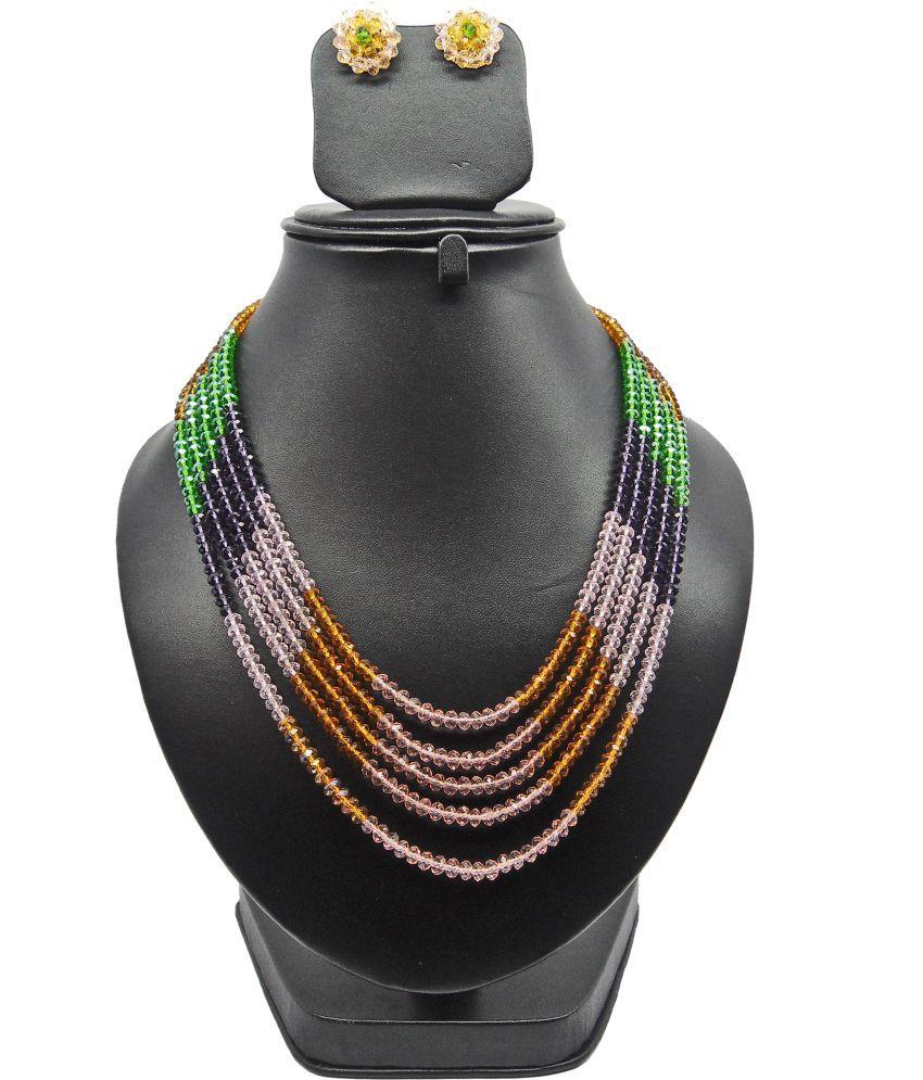 Bling N Beads Five Line Crystal Jewel Set